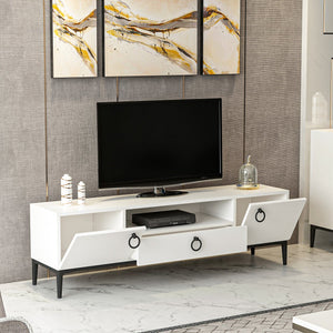 Homelante Moon Modern Tv Unit - White / Black