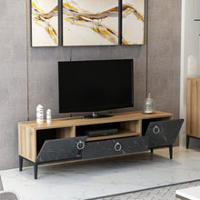 Load image into Gallery viewer, Homelante Moon Tv Unit Dore - Royal Black Marble