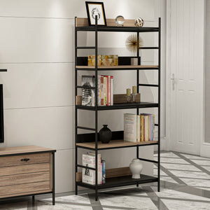 Homelante Nelly Metal Leg Bookcase / Black-Kaman