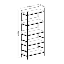 Load image into Gallery viewer, Homelante Nelly Metal Leg Bookcase / Black-Kaman