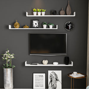 Homelante Paldy Tv Shelf Wall Shelf - White