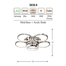 Load image into Gallery viewer, Perge Home Design Ceiling Lamp White Sunrise Orbis