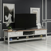 Load image into Gallery viewer, Homelante Rosa Tv Unit - Kaman / Tumbled White