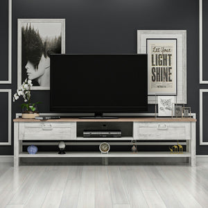 Homelante Rosa Tv Unit - Kaman / Tumbled White