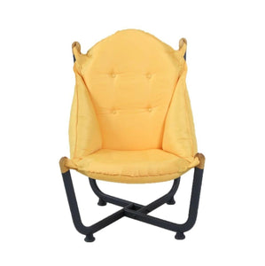 Longshore Tides Abramson Patio Chair Metal Outdoor Club Chairs Yellow