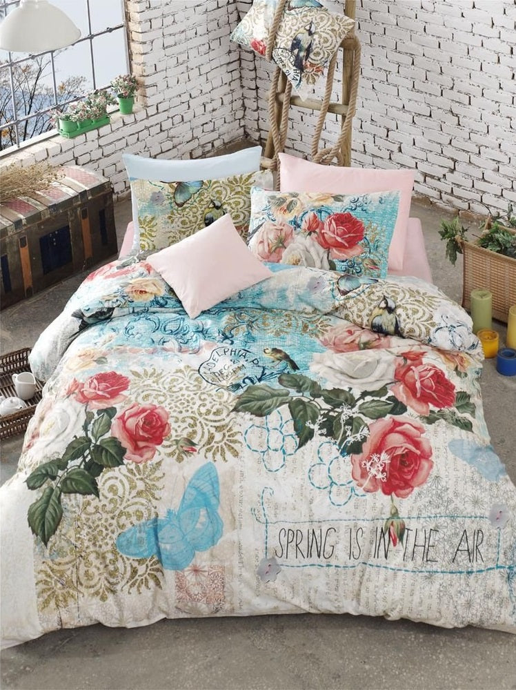 Etgbuy Ranforce Sweety Exclusive Bedding Linens Set Twin 3 Pcs Cotton Duvet Set