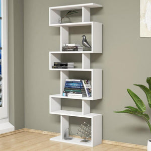 Homelante Tablero Bookcase - Decorative Bookcase - White / White