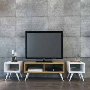 Homelante Vinca Tv Table - White / Sapphire
