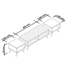 Load image into Gallery viewer, Homelante Vinca Tv Table - White / Sapphire