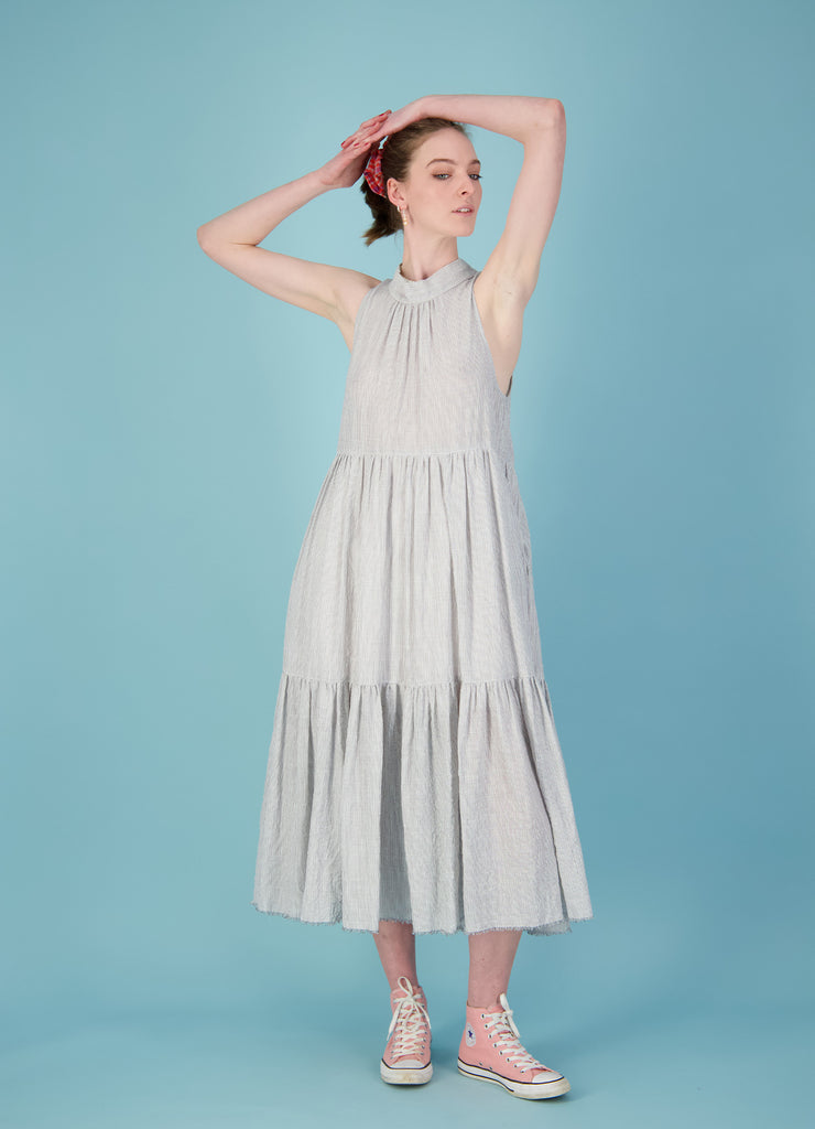And She Was Dress - Cotton Stripe