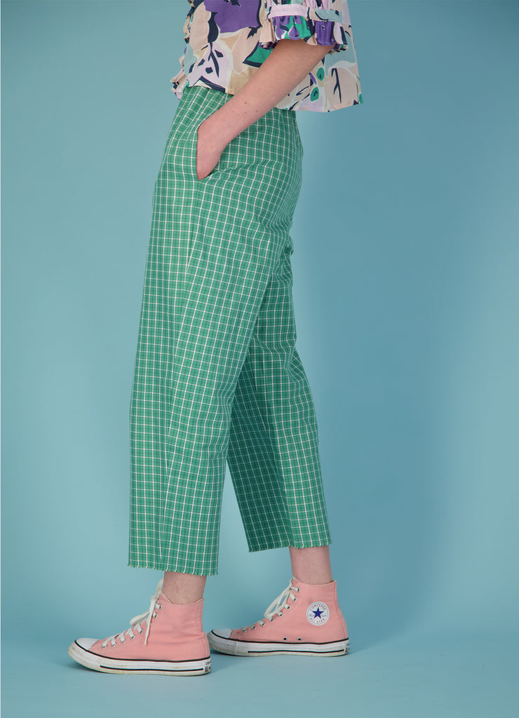 Happy Day Pants - Oxford Cotton Check