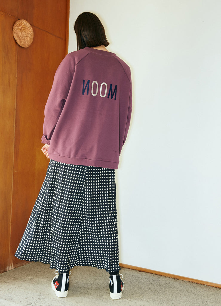 Daylight Moon Embroidered Sweat - Purple