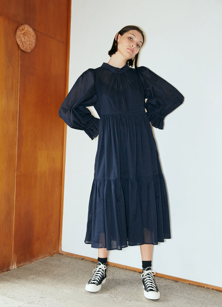 Walk in the Dark Dress - Cotton Voile