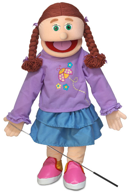 Amy Girl Puppet, Peach Skin 25""