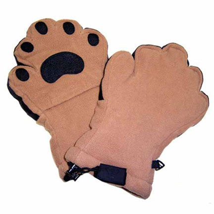 adult camel fleece mittens