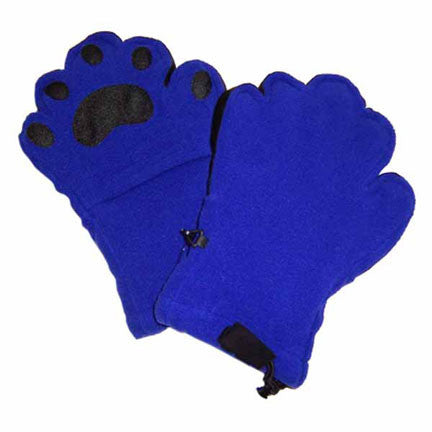 Adult Cobalt Blue Fleece Mittens