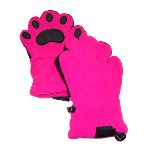 Adult Fuchsia Fleece Mittens