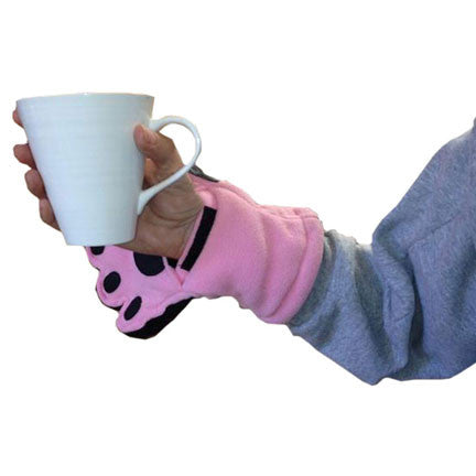 Adult Light Pink Fleece Mittens