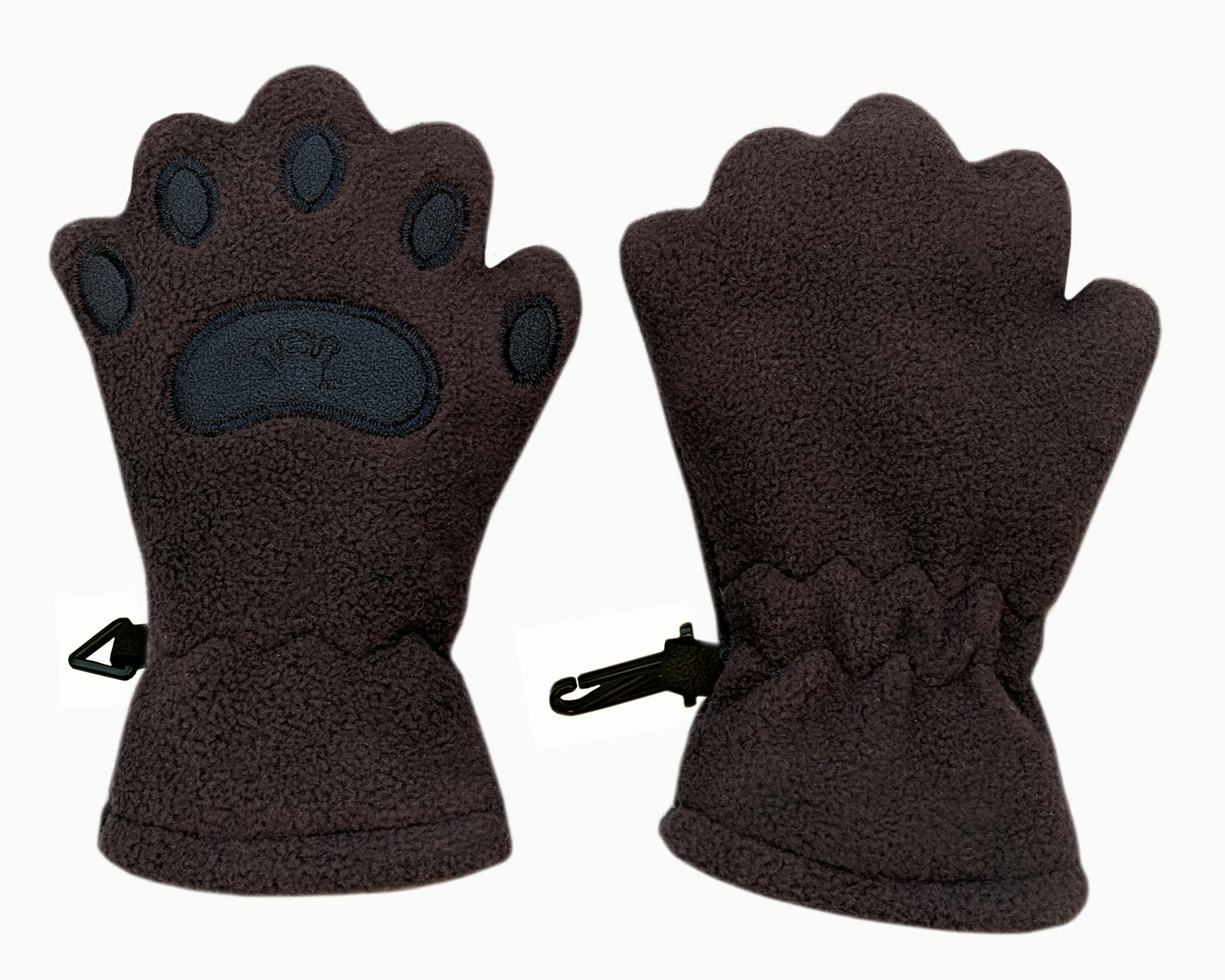 Infant & Toddler Brown Fleece Mittens