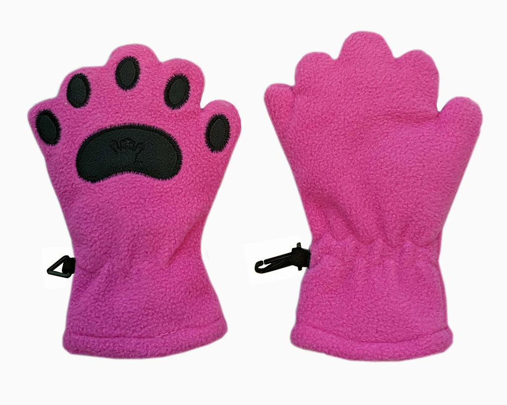 Infant & Toddler Fuchsia Fleece Mittens