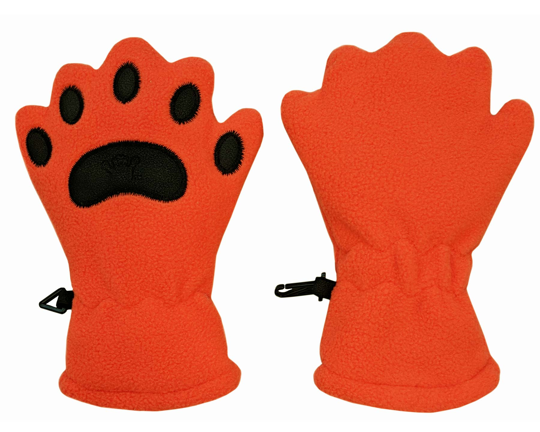 Infant & Toddler Orange Fleece Mittens