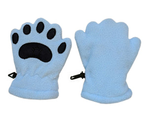 Infant Powder Blue Fleece Mittens
