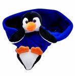 Penguin Polo on Cobalt Blue Fleece Buddy Scarf