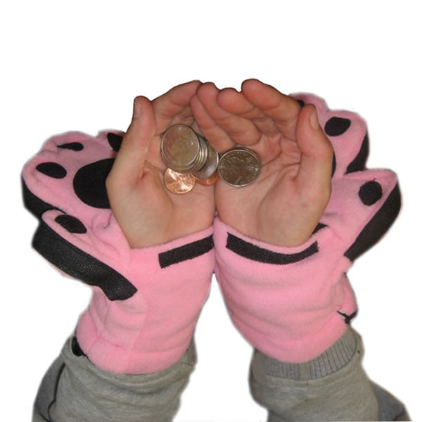 Kids Light Pink Mittens