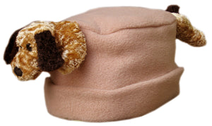 Floppy Ear Dog on Camel Fleece Buddy Hat