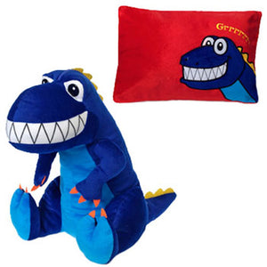 Dinosaur Peek-a-Boo Pillow