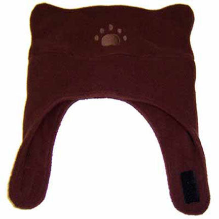 Infant & Toddler Brown Fleece Chinstrap Hat