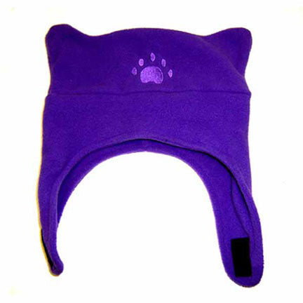Infant & Toddler Dark Purple Fleece Chinstrap Hat
