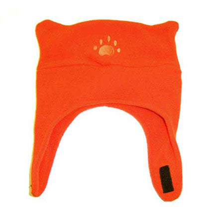Infant & Toddler Orange Fleece Chinstrap Hat