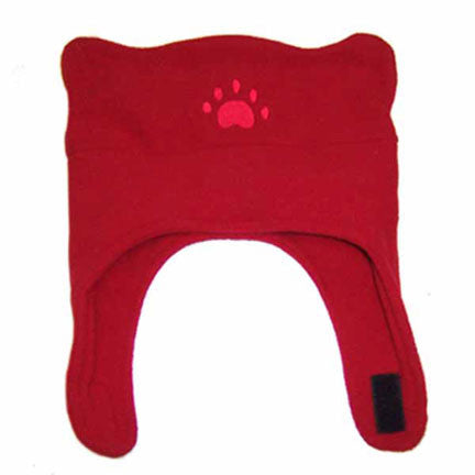 Infant & Todder Red Fleece Chinstrap Hat