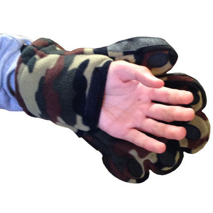 Adult Camouflage Fleece Mittens