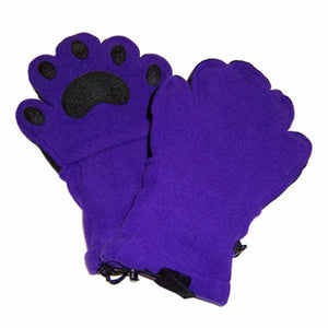Adult Dark Purple Fleece Mittens
