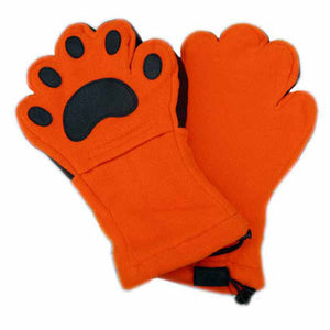 Adult Orange Fleece Mittens