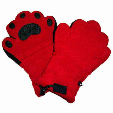 Adult Red Fleece Mittens
