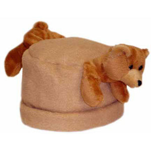 Brown Bear on Camel Fleece Buddy Hat