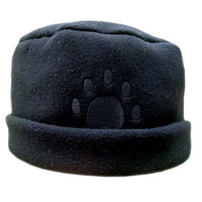 Black Paw Print Fleece Hat