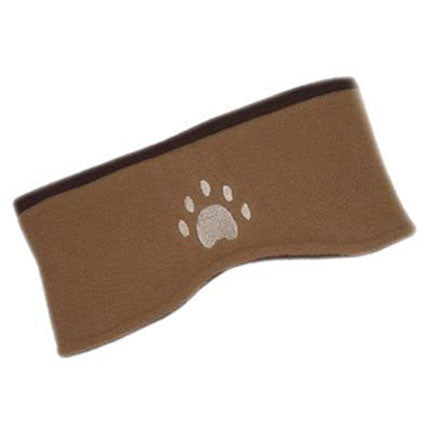 Brown & Camel Reversible Reversible Paw Print Headband
