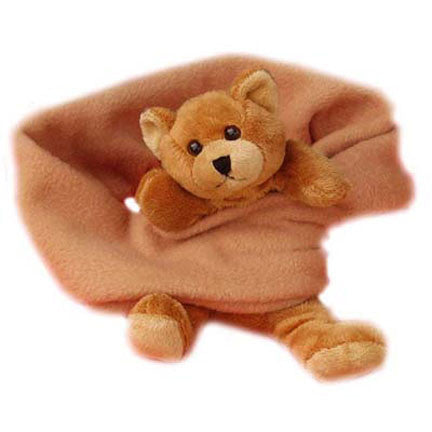 Brown Bear on Camel Fleece Buddy Scarf