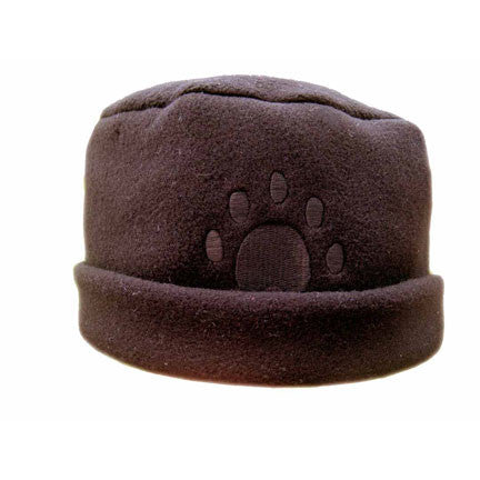 BROWN Paw Print Fleece Hat