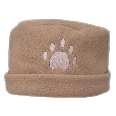 Camel Paw Print Fleece Hat
