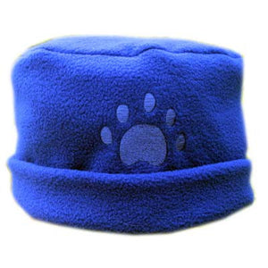 Cobalt BluePaw Print Fleece Hat