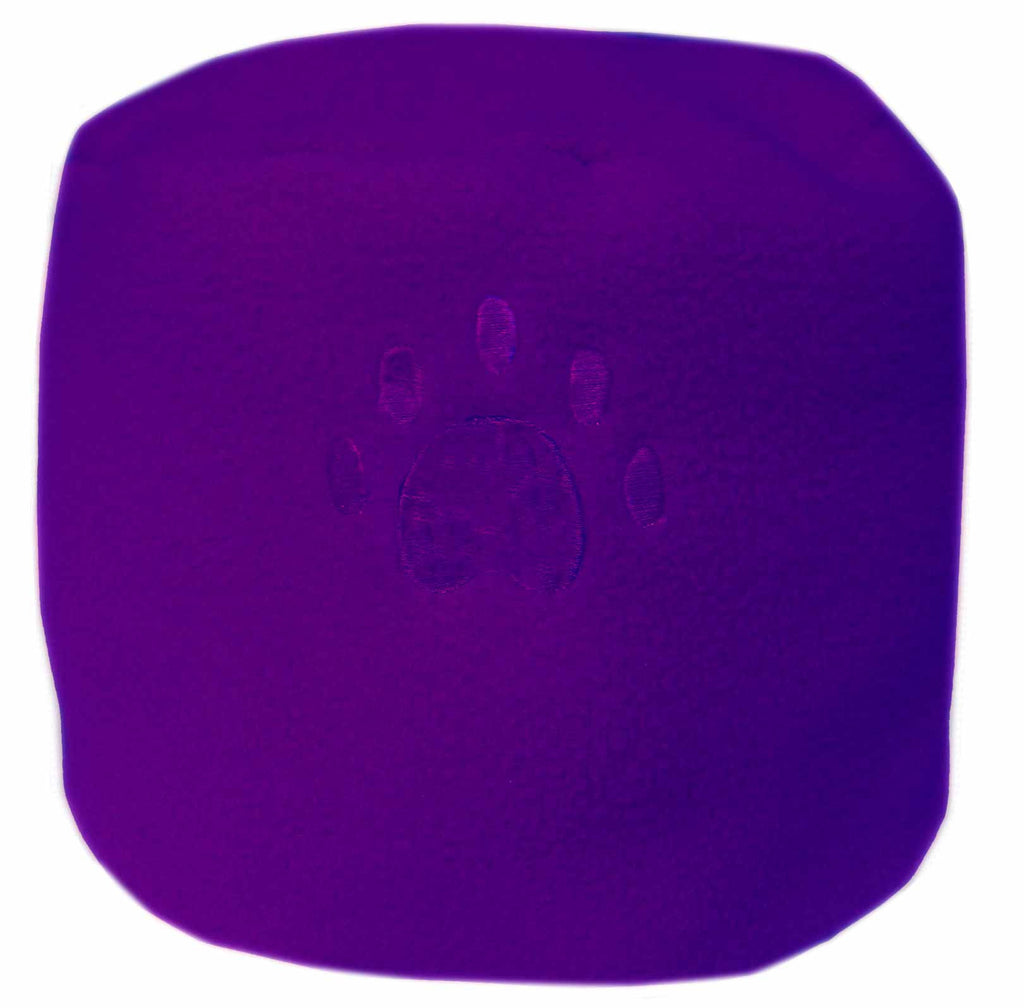 Dark Purple Paw Print Fleece Hat