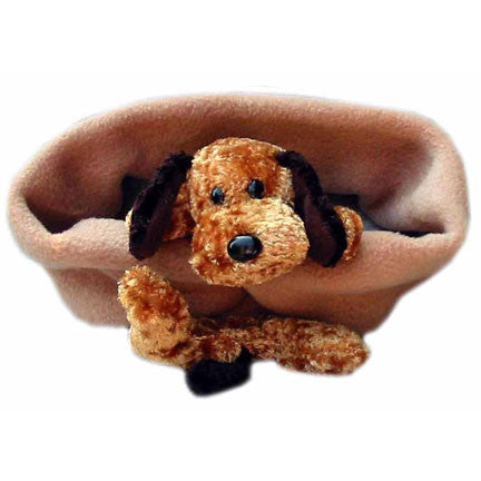 Floppy Ear Dog on Camel Fleece Buddy Scarf