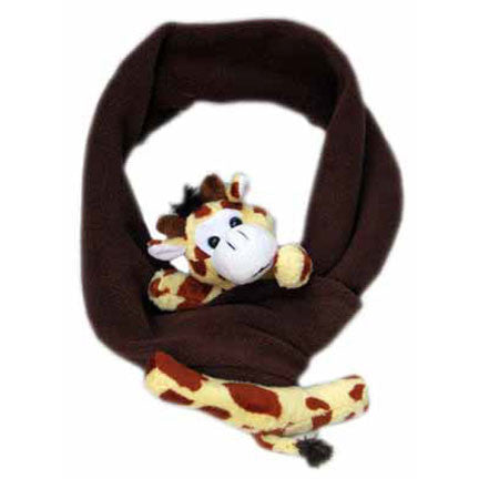 Giraffe on Brown Fleece Buddy Scarf
