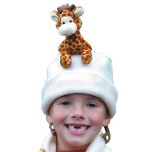 Giraffe on Cream Fleece Buddy Hat