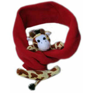 Giraffe on Red Fleece Buddy Scarf